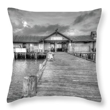 City Pier Anna Maria Island Throw Pillow