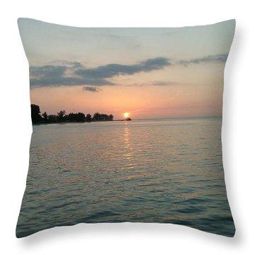 City Pier Holmes Beach Bradenton Florida Throw Pillow