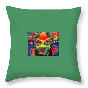 City Queen Throw Pillow