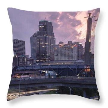 City Rise Throw Pillow