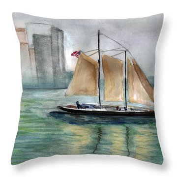 City Sail Throw Pillow