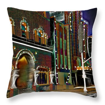 Throw Pillow featuring the photograph City Scene by EricaMaxine  Price