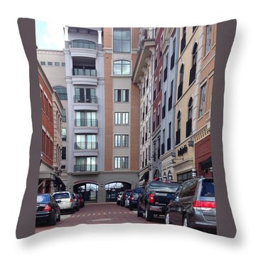 City Scene Throw Pillow by Russell Keating