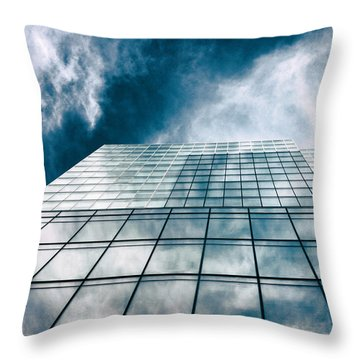 Throw Pillow featuring the photograph City Sky Light by Jessica Jenney