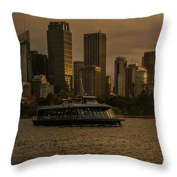 Throw Pillow featuring the photograph City Skyline  by Andrew Matwijec