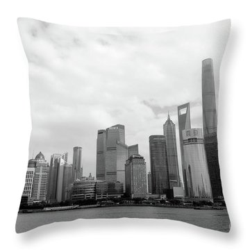 Throw Pillow featuring the photograph City Skyline by MGL Meiklejohn Graphics Licensing