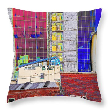 Throw Pillow featuring the photograph City Space by Vladimir Kholostykh