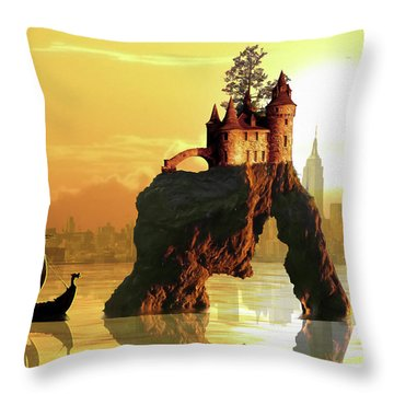 City Stack Throw Pillow