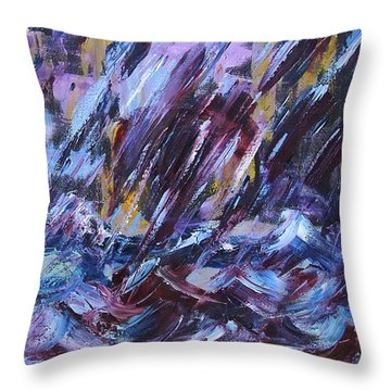 City Storm Abstract Throw Pillow