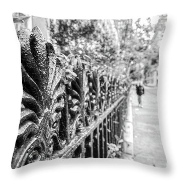 Throw Pillow featuring the photograph City Street by Ana V Ramirez