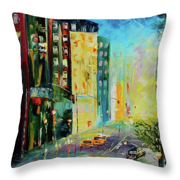 City Streets Throw Pillow