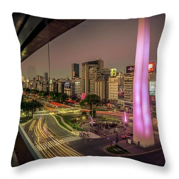 City Sunset Throw Pillow by Andrew Matwijec