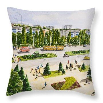 City Throw Pillow by Svetlana Sewell