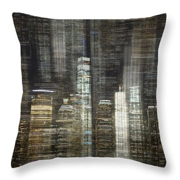 City Tetris Throw Pillow