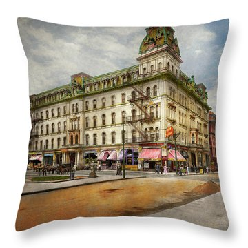 Throw Pillow featuring the photograph City - Toledo Oh - Got A Boody Call 1910 by Mike Savad