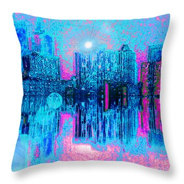 City Twilight Throw Pillow