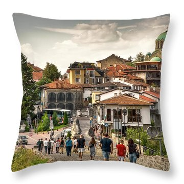 City - Veliko Tarnovo Bulgaria Europe Throw Pillow