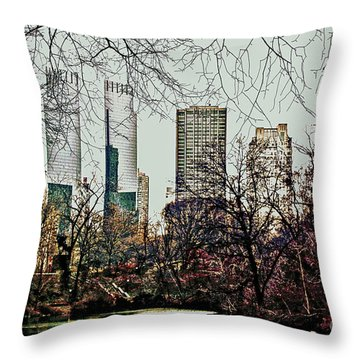 City View From Park Throw Pillow by Sandy Moulder