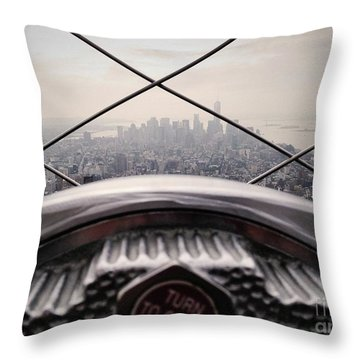 Throw Pillow featuring the photograph City View by MGL Meiklejohn Graphics Licensing