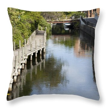 City Waterway Throw Pillow