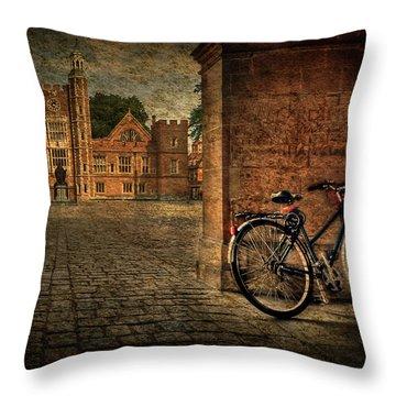 City Wheels Throw Pillow by Evelina Kremsdorf