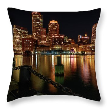 City With A Soul- Boston Harbor Throw Pillow