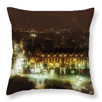 Throw Pillow featuring the photograph Citylife by Isabella F Abbie Shores FRSA