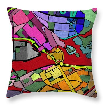 Cityplan#2 Throw Pillow