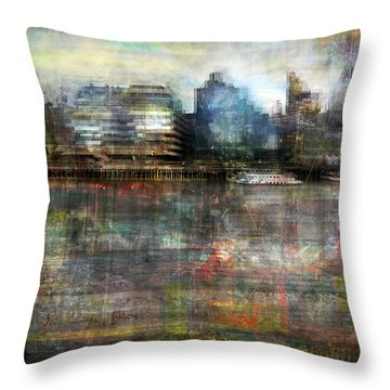 Cityscape #33. Silent Windows Throw Pillow by Alfredo Gonzalez