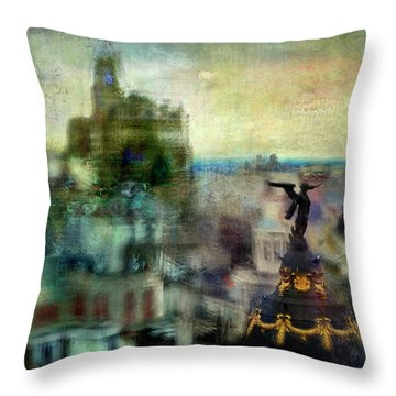 Cityscape 38 - Homeless Angels Throw Pillow by Alfredo Gonzalez