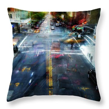 Cityscape 39 - Crossroads Throw Pillow by Alfredo Gonzalez