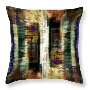 Throw Pillow featuring the digital art Cityscape by Kenneth Armand Johnson