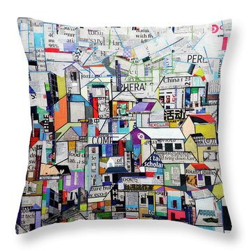 Cityscape Throw Pillow