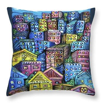 Cityscape Sculpture Throw Pillow