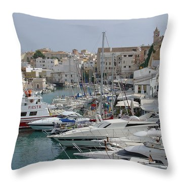 Ciutadella Marina Throw Pillow by Rod Johnson
