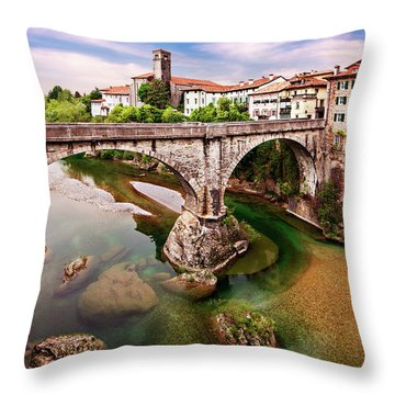 Throw Pillow featuring the photograph Cividale Del Friuli - Italy by Barry O Carroll