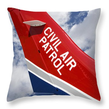Civil Air Patrol Aircraft Throw Pillow