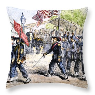 Civil War: Garibaldi Guard Throw Pillow by Granger