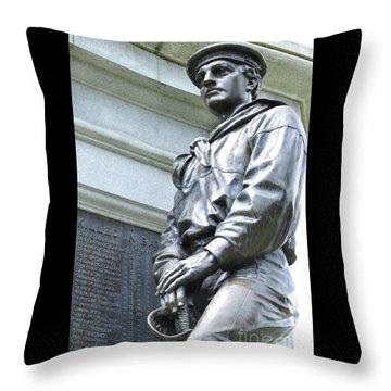 Civil War Memorial - Fitchburg, Ma Throw Pillow