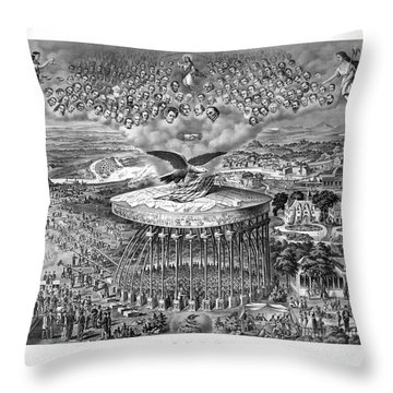 Civil War Reconstruction Throw Pillow
