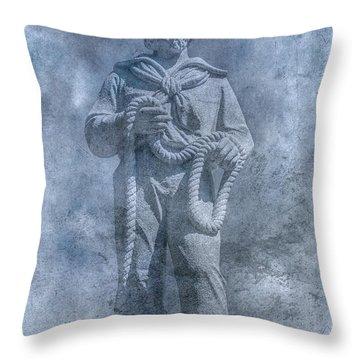 Civil War Sailor Statue Clarion Park Throw Pillow