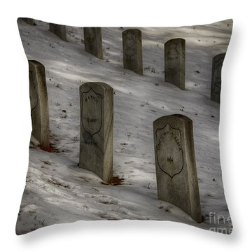 Throw Pillow featuring the photograph Civil War Stones by JRP Photography