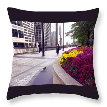 Civilization And Birds Throw Pillow