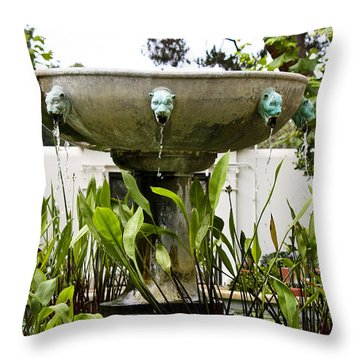 Civit Head Fountain Getty Villa Malibu California Throw Pillow
