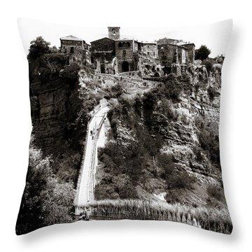 Civita Di Bagnoregio Italy Throw Pillow
