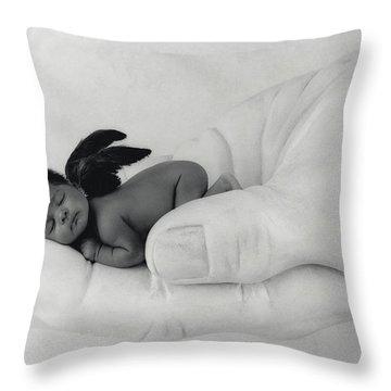 C.j. As An Angel Throw Pillow