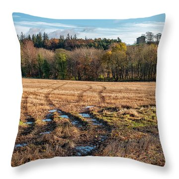 Throw Pillow featuring the photograph Clackmannan Tower In Central Scotland by Jeremy Lavender Photography