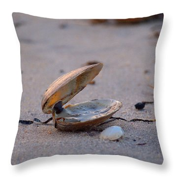 Clam I Throw Pillow