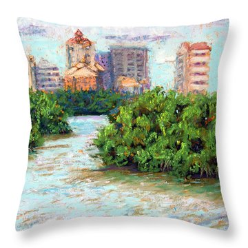 Clam Pass I Throw Pillow by Laurie Paci