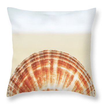 Clam Shell Throw Pillow by Brandon Tabiolo - Printscapes